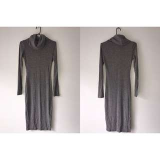 Temt Long Sleeve Turtle Neck Dress Size Small