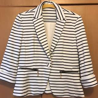 Black and White Stripe Jacket
