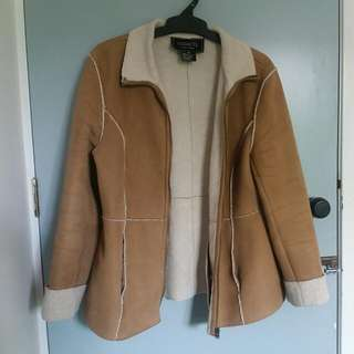 Brown and White Wool Jacket- Coaco New York