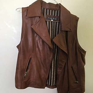 Real Italian Leather Vest