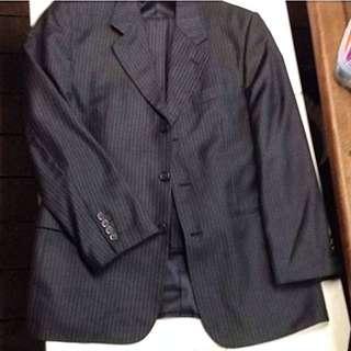 100% Australian Wool Jacket and Pants Dress Suit size 40