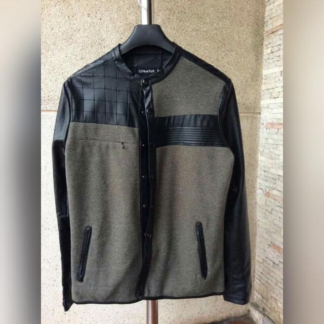 101 New York Leather Jacket Size: XL