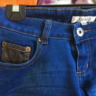 Navy Denim Jeans