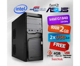 Powerd By ASUS PC Celeron G1840 Dual Core / 2GB RAM