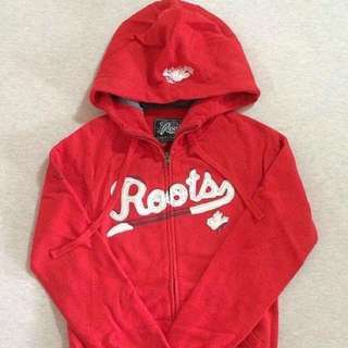 Roots canada 刷毛連帽外套