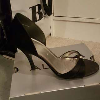 Aldo black evening heels size 38