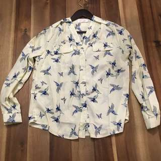 Blouse with Bird Detail