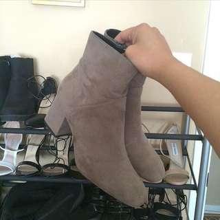 Zara Suede Booties Size 6