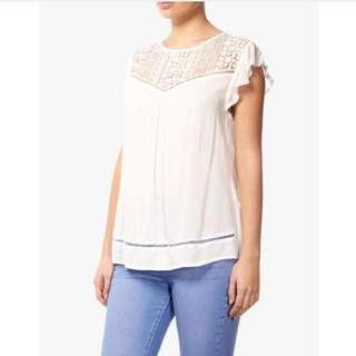 [Cotton On] Flutter Sleeve Blouse