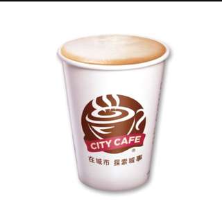 City Cafe 大杯拿鐵兌換券
