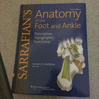 Sarrafian Anatomy Of The Foot And Ankle