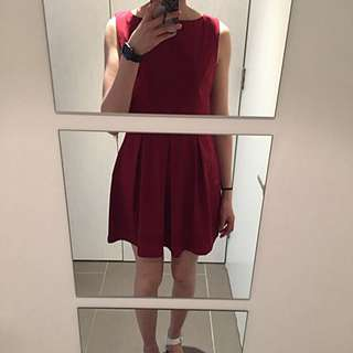 AX Paris Dress In Ox Blood Colour