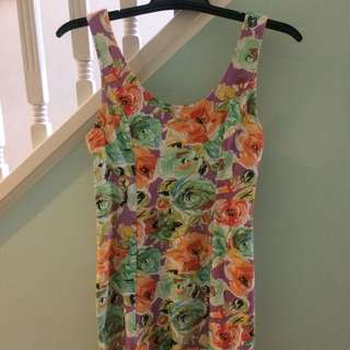 MINK PINK Floral Dress s Small