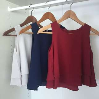 Three Colour Loose Tops Free Size