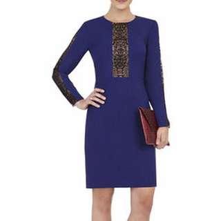 BCBG Eloisa Embroidered Trim Dress - Size 12 - 73% Off!!
