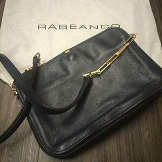 Rabeanco 斜背包 深藍色 出國好用包(降價囉)