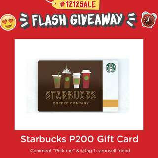 🎊WIN Starbucks P200 Gift Card NOW!🎊