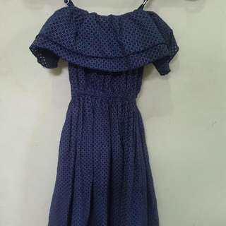 Cammomile Blue Dress (Dress Merk Cammomile)