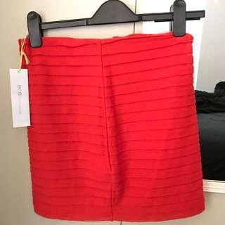 BCBG Red Skirt - BNWT
