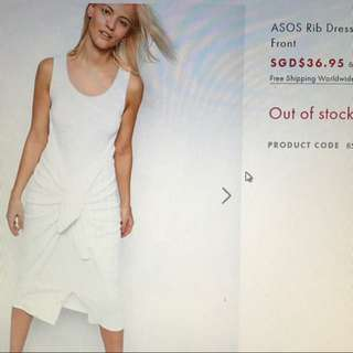 ASOS white tie dress