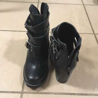 Black Stud Booties
