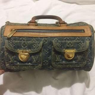 LV Monogram 'Speedy' Denim Bag