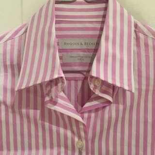 Shirt - Rhodes & Beckett - Pink Strip