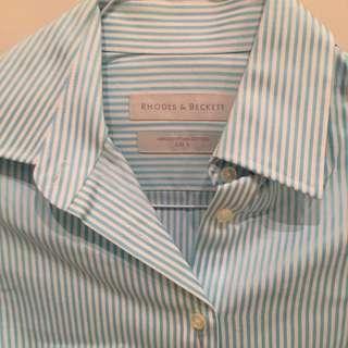 Shirt - Rhodes & Beckett - Blue Stripe