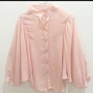 Chic Pink Batwing Top