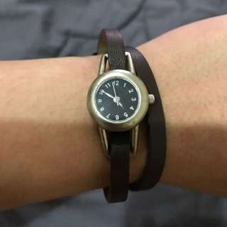 muji leather watch