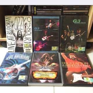 Ozzy Osbourne/G3 Denver/G3 Tokyo/Joe Satriani San Francisco/Yngwie Malmsteen/Eric Clapton Concert DVDs