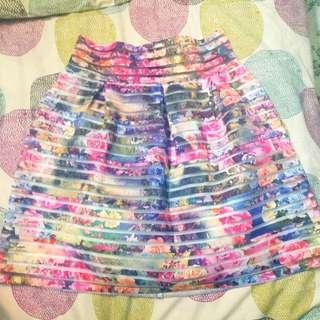 Floral Stiff Skirt