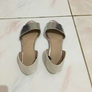 Ruby Silver Flatshoes 39