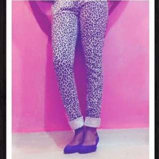 Black and White Leopard print / Army print jegging