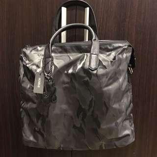 Mod Black / Grey Camouflage Army Print Bag