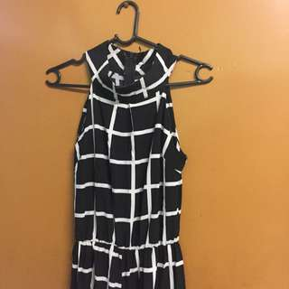 Jumpsuit Black With white Stripes