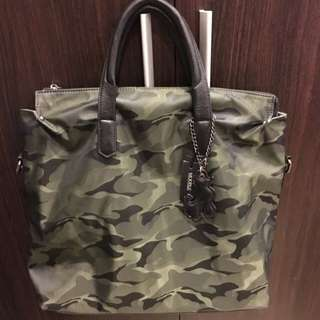 Camouflage Army Print Casual Work Bag