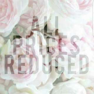 PRICES REDUCED