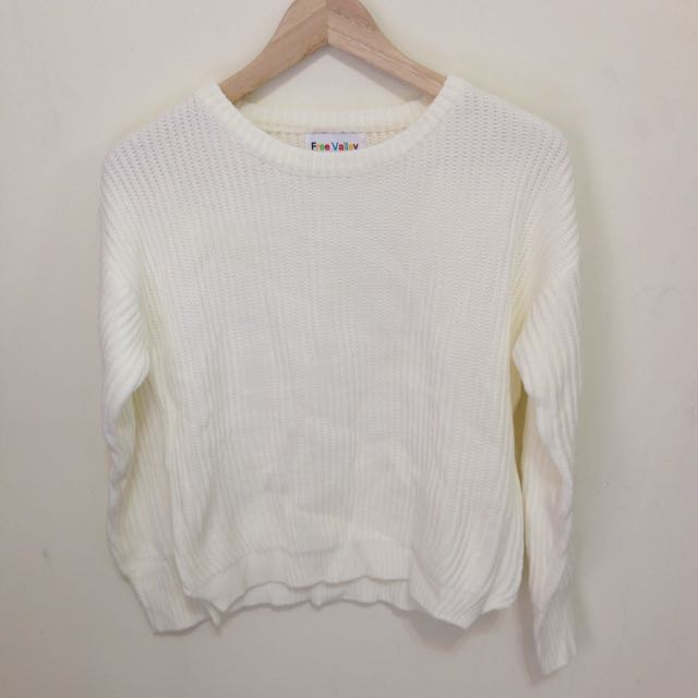 全白基本款毛衣
