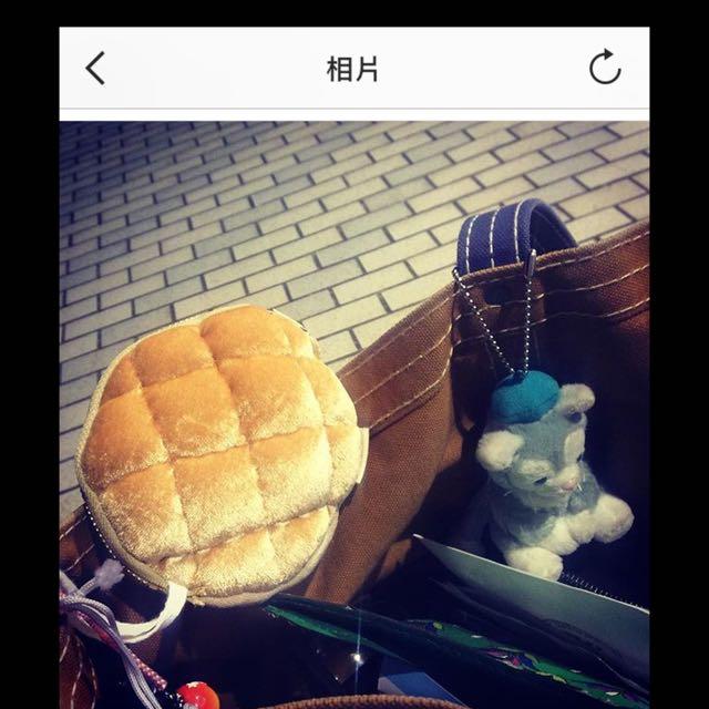 零錢包 菠蘿包 麵包 造型