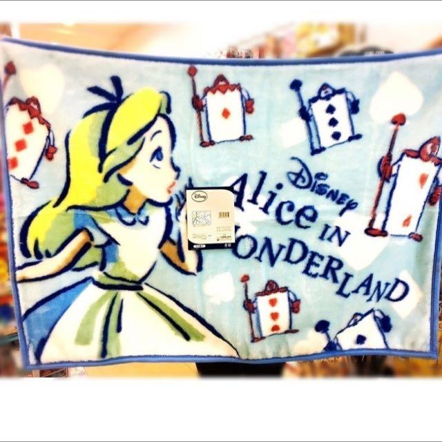 迪士尼愛麗絲夢遊仙境 珊瑚絨毯 空調毯 披肩 禮物