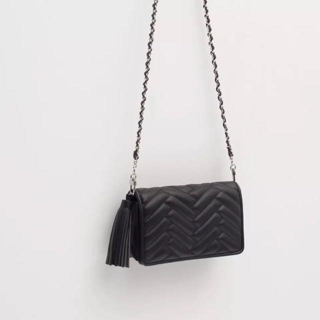 車縫 質感 歐美 鏈條 小 包包