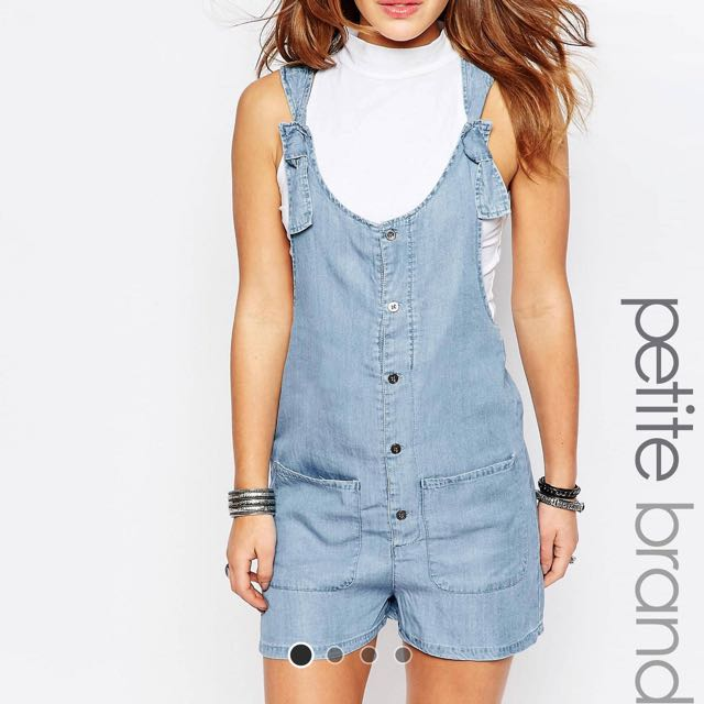 d373ea055a34 Asos Noisy May Petite Chambray Playsuit Romper