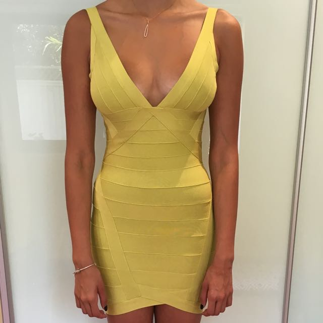 Scoop Back Bandage dress