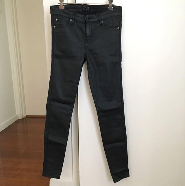 Bardot Black Wet Look Jeans