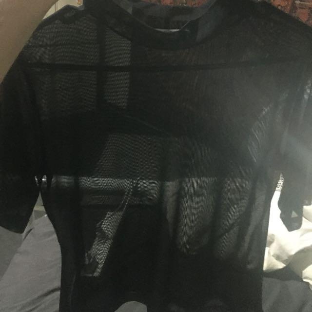 black mesh crop