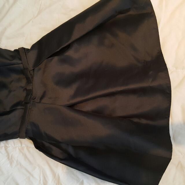Black Stain Sleeveless Mini Dress