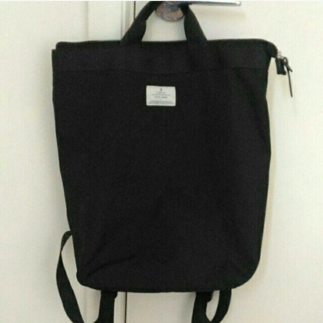 Black tote backpack from Article No.1