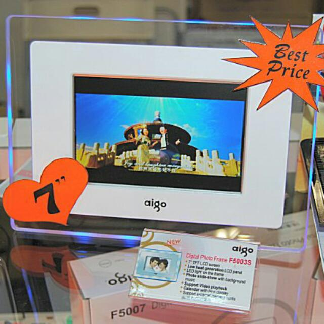 Bnib Digital Photo Frame 7 Inches Electronics Others On Carousell