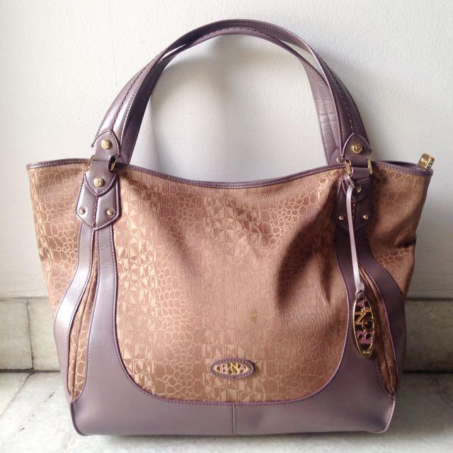 [Bonia] Purple-Gold Bag